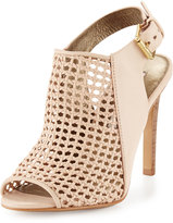 Cynthia Vincent Francine Woven Leather Slingback Sandal, Nude