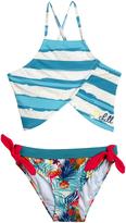 Big Chill Marine Stripe Asymmetrical Bikini - Girls