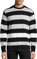 Diesel Black Gold Striped Long Sleeve Sweatshirt