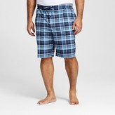 Merona Men's Woven Sleep Shorts Dark Blue Plaid