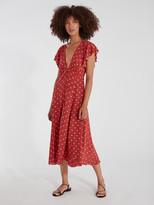 Auguste The Label Polly Sunday Polka Dot Midi Dress