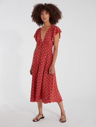 Auguste The Label Polly Sunday Polka Dot Midi Dress