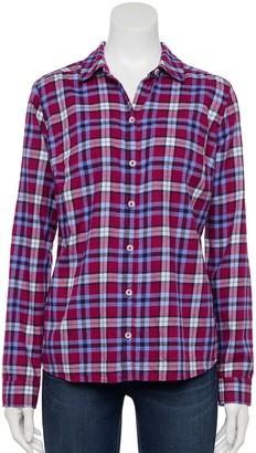 Croft & Barrow Women's Plaid Flannel Shirt