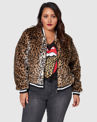 Sunday In The City - Women's Brown Winter Coats - Power Animal Faux Fur Jacket - Size One Size, 16 at The Iconic