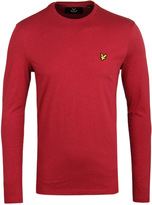Lyle & Scott Red Marl Long Sleeve T-shirt