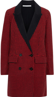 Veronica Beard Senna Double-breasted Houndstooth Wool And Cashmere-blend Coat