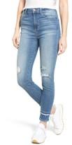 Women's Sp Black Double Hem Skinny Jeans