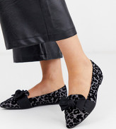 Simply Be Extra Wide Fit Simply Be extra wide fit trixi pointed toe pumps in leopard
