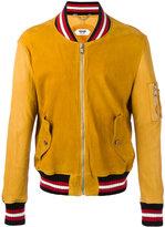 Pihakapi - striped trim jacket - men - Lamb Skin/Cotton/Polyamide/Spandex/Elastane - M