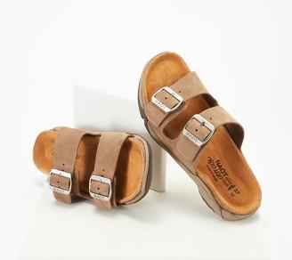 Naot Footwear Suede Slide Sandals - Shai