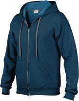 Gildan Heavy Blend Mens Vintage Full Zip Hooded Sweat / Hoodie (L)
