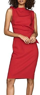 Reiss Robyn Ruffled Sheath Dress