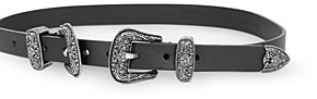 The Kooples Women's Double Buckle Leather Belt