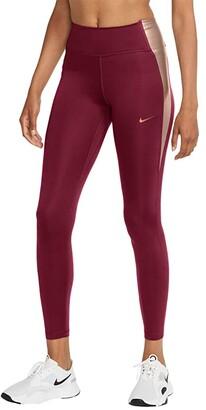 Nike One Tights Color-Block (Black/Black/Metallic Gold) Women's Casual Pants