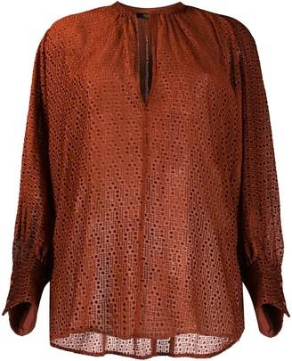 Seventy Patterned Long-Sleeve Blouse