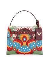 Valentino My Rockstud Enchanted Wonderland Satchel Bag, Green/Multi