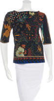 Etro Short Sleeve Abstract-Print Top