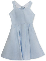 Rare Editions Bow-Back Seersucker Dress, Big Girls (7-16)