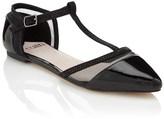 Faith Mesh T-bar Flat Shoe