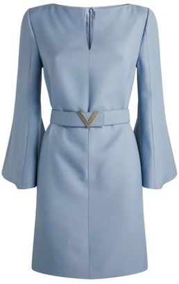 Valentino Belted Crepe Mini Dress