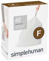 Simplehuman Code F Custom Fit Liners 60 Pack
