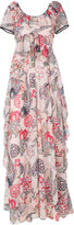 Temperley London shire printed gown - women - Polyester - 16