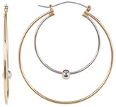 Natasha Accessories Two-Tone Concentric Hoop Earrings