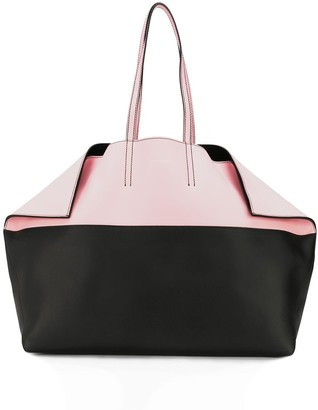 Alexander McQueen two-tone Butterfly tote bag