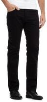 Jeff Banks Designer Black Raw Straight Leg Jeans