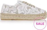 Kanna Path Embroidered Lace Up Espadrilles