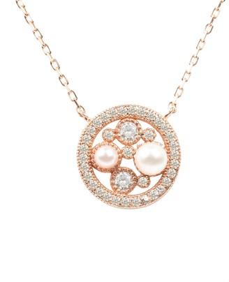 Latelita Lulu White Pearl Rosegold Pendant Necklace