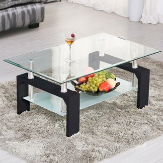 Orren Ellis Torr Glass Coffee Table
