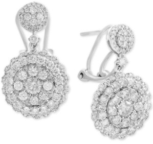 Effy Rock Candy by Diamond Cluster Drop Earrings (2-1/10 ct. t.w.) in 14k White, Rose, or Yellow Gold