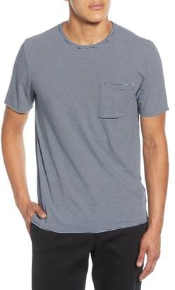 Vince Feeder Stripe Pocket T-Shirt