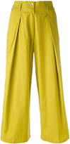 Forte Forte pleated cropped trousers - women - Cotton - II