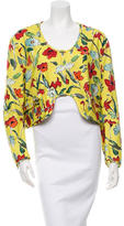Hache Printed Scoop Neck Jacket