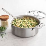 All-Clad d5 Brushed Stainless Steel Deep Sauté Pan, 6 qt.