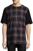 Helmut Lang Gradient-Plaid T-Shirt, Brown