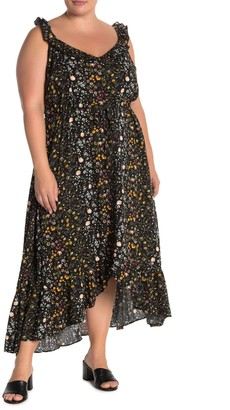 City Chic Spring Ditsy Maxi Dress (Plus Size)