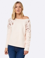 Forever New Bradie Embroidered Sleeve Jumper