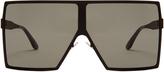 Saint Laurent Betty oversized square-frame metal sunglasses