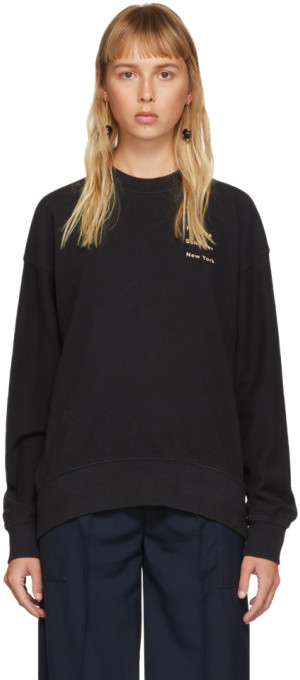 Proenza Schouler Black Logo Crewneck Sweatshirt