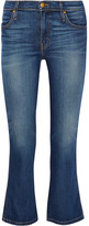 The Great The Nerd Cropped Low-rise Flared Jeans - Mid denim