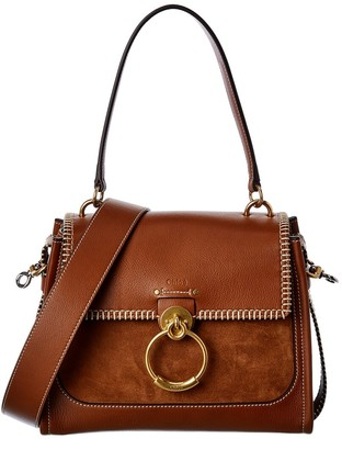 Chloé Tess Day Small Leather & Suede Shoulder Bag