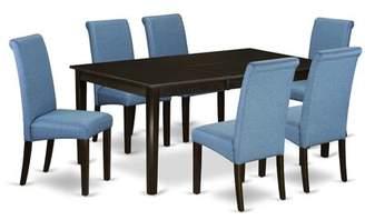 Winston Porter Fernanda Kitchen Table 7 Piece Extendable Solid Wood Dining Set Winston Porter