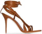 Manolo Blahnik Tor 105mm ankle tie sandals