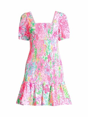 Lilly Pulitzer Evelina Smocked Floral Dress