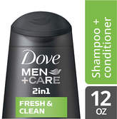 Dove Men+Care 2 in 1 Shampoo and Conditioner Fresh and Clean