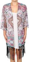 Glam Aztec Fringe Kimono