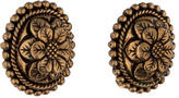 Stephen Dweck Carved Floral Earrings